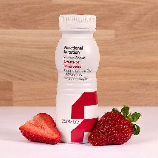 Protein shake A taste of strawberry